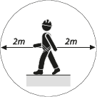 Working range at heights is the radius of two metres from the point of attachment on the user. No other person or equipment is permitted within that range due to the possibility of damage caused by a falling tool.