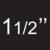 """1.1/2"""" point"""