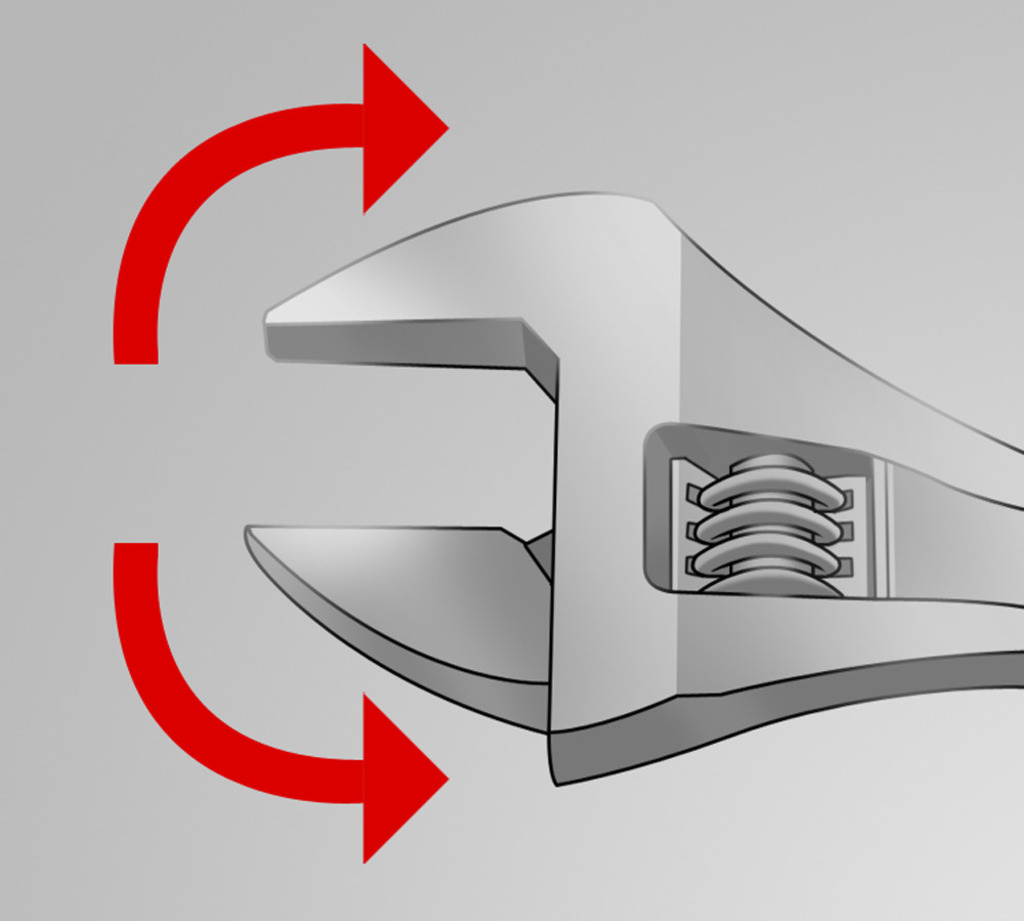 The wrench sustains both directions of rotation