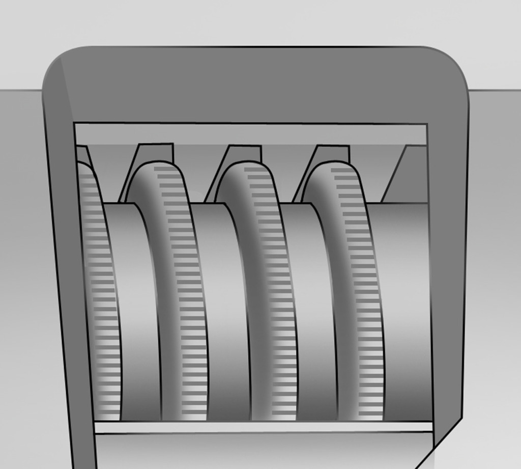 Toothed adjustable screw