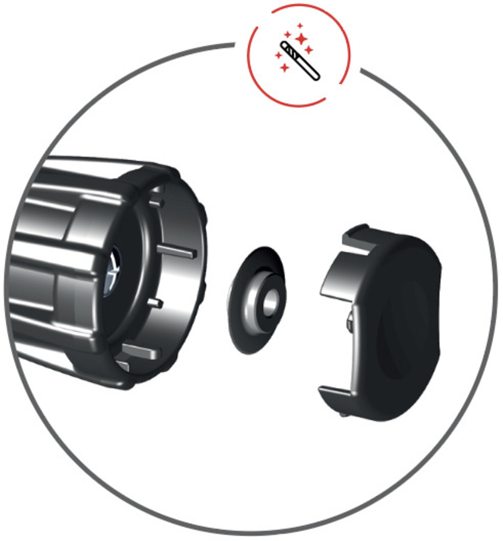 spare cutting wheel in handle